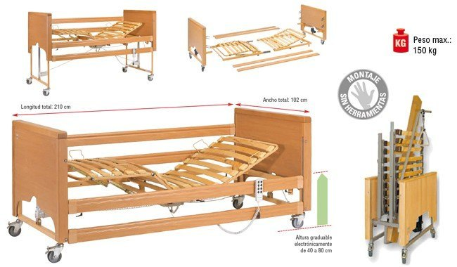 "CAMA ELECTRONICA DE ALTURA REGULABLE ""ANTARES"""